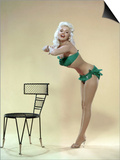 American Actress Jayne Mansfield (1933-1967) Born as Vera Jane Palmer, Here in, 1965 Poster