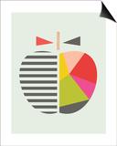 Geometric Apple Prints by  Little Design Haus