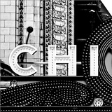 Chi B&W Sqaure Poster by Gail Peck