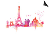 Paris Skyline Posters by Summer Thornton