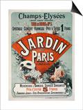 Champs-Elysees,Tous Les Soirs a 8H 1/2, Jardin de Paris Print by Jules Chéret