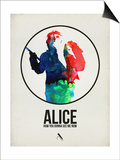 Alice Watercolor Posters by David Brodsky