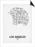 Los Angeles Street Map White Posters by  NaxArt