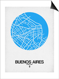 Buenos Aires Street Map Blue Prints by  NaxArt