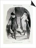 Locataires Et Proprietaires, Numero 20 - Un Locataire Qui Doit Trois Termes Affiche par Honore Daumier