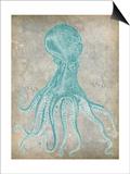 Spa Octopus II Posters van Jennifer Goldberger