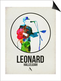 Leonard Watercolor Poster by David Brodsky