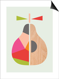 Geometric Pear Posters by  Little Design Haus