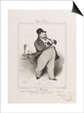 French Types: the Banker Affiches par Honore Daumier