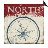 Nautical I Red Print by Jim Wellington