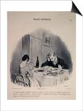 Marital Habits Poster par Honore Daumier