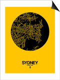 Sydney Street Map Yellow Posters by  NaxArt