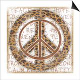 Peace Leopard Posters by Jennifer Pugh
