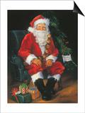 Santa Is In Prints by Susan Comish