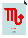 Scorpio Zodiac Sign Red Prints by  NaxArt