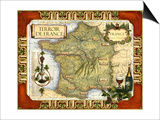 Wine Map of France on CGP Prints