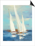 Summer Regatta III Print by Julia Purinton