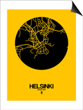 Helsinki Street Map Yellow Posters by  NaxArt