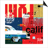 Cali Car Prints by Mark Andrew Allen