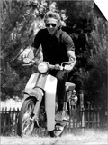 American Actor Steve Mcqueen on a Moto to Prepapre His Film Le Mans, 1969 Prints