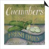 Cucumber Prints by Kim Lewis