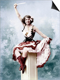 French Singer Jeanne Bourgeois Aka Mistinguett (1875-1956) in, 1902. Colorized Document Affiches