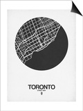 Toronto Street Map Black on White Posters by  NaxArt