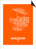 Vancouver Street Map Orange Posters by  NaxArt