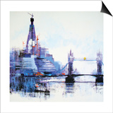 Shard Left Prints by Colin Ruffell