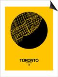 Toronto Street Map Yellow Prints by  NaxArt