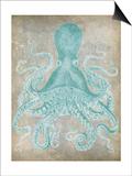 Spa Octopus I Poster van Jennifer Goldberger
