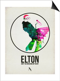 Elton Watercolor Prints by David Brodsky