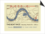 Boat Race Map Prints by  Transport for London