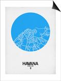 Havana Street Map Blue Prints by  NaxArt