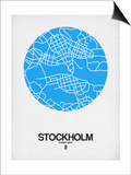 Stockholm Street Map Blue Posters by  NaxArt