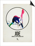 Joe Watercolor Posters by David Brodsky