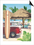 Van, Surf, and Sand Print by Evelyn Jenkins-Drew