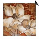 Whispering Magnolia on Red I Prints by Lanie Loreth