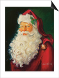 Santa Prints by Susan Comish