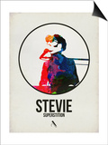 Stevie Watercolor Posters af David Brodsky