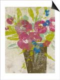 Bouquet Collage II Art by Jennifer Goldberger