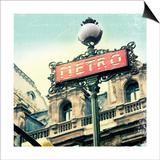 Paris Metro Letter Prints by Sue Schlabach