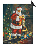 Sneaking Santa Prints by Susan Comish