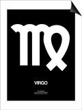 Virgo Zodiac Sign White Posters by  NaxArt