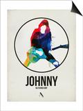 Johnny Watercolor Circle Prints by David Brodsky