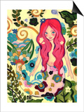 Spring Mermaid Affiches par Natasha Wescoat