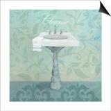 Damask Bath Sink Posters by Avery Tillmon