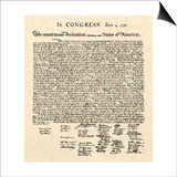 Declaration of Independence Doc. Posters
