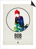 Bob Watercolor Print by David Brodsky