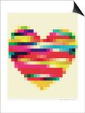 Rainbow Heart Prints by Natasha Wescoat
